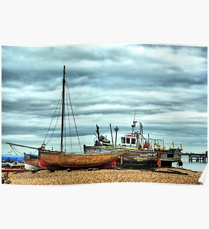 Boats at Deal1 Poster