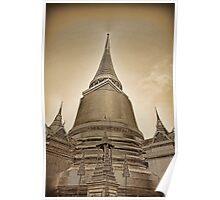 Phra Sri Ratana Chedi, Bangkok Thailand Poster