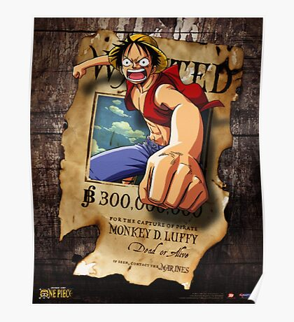Wanted Luffy Poster