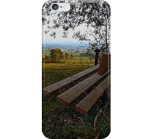 Bench with nature and scenery | landscape photography iPhone Case/Skin