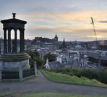 Edinburgh Skyline from the City Observatory on Calton Hill by tayforth