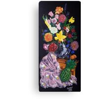 Aso-Oke and flowers- still-life Canvas Print