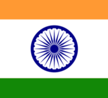 India Flag, The National flag of India, pure & simple Sticker