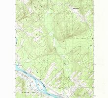 Maine USGS Historical Map Lille 105282 1986 24000 by wetdryvac
