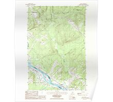 Maine USGS Historical Map Lille 105282 1986 24000 Poster