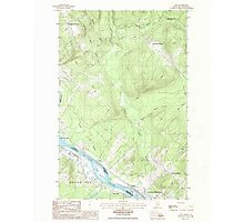 Maine USGS Historical Map Lille 105282 1986 24000 Photographic Print