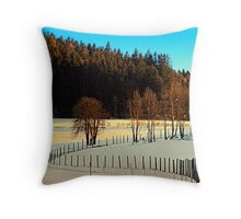Hiking on a winter afternoon | landscape photography Throw Pillow