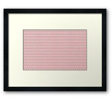 Lipstick Red Kisses Lipstick Framed Print