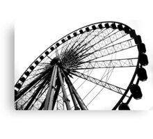 Liverpool Wheel Silhouette Canvas Print
