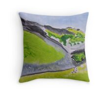 Shale and downs Throw Pillow