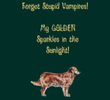Golden Retrievers Sparkle by Julie Miles