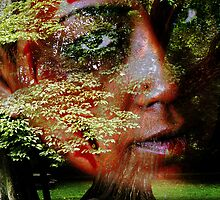 Face In The Woods by Clayton Bruster