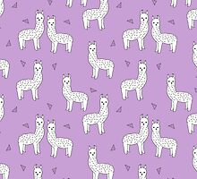 Alpaca - Wisteria Purple by Andrea Lauren by Andrea Lauren