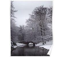 Bridge in Winter Poster