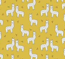Alpaca - Mustard by Andrea Lauren by Andrea Lauren