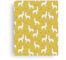 Alpaca - Mustard by Andrea Lauren Canvas Print