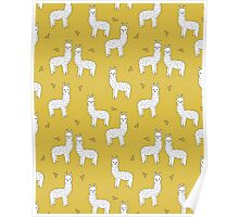 Alpaca - Mustard by Andrea Lauren Poster