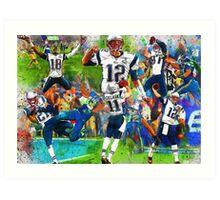 New England Patriots 2015 Super Bowl Champions Collage Art Print