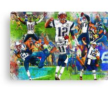 New England Patriots 2015 Super Bowl Champions Collage Canvas Print
