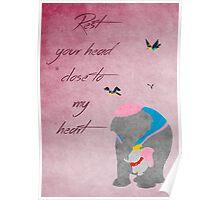 Dumbo inspired Mother's Day design. Poster