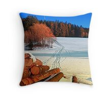Timber in winter wonderland | landscape photography Throw Pillow