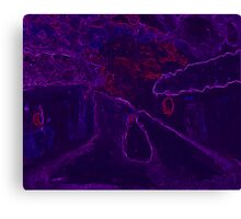 Country snowscene abstract Canvas Print