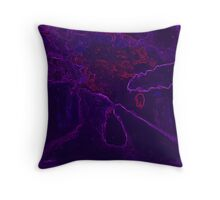 Country snowscene abstract Throw Pillow