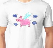 Pig with wings Unisex T-Shirt