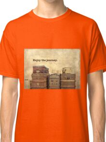 Vintage Brown Steamer Trunks and Luggage Classic T-Shirt