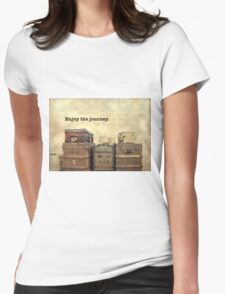 Vintage Brown Steamer Trunks and Luggage Womens Fitted T-Shirt