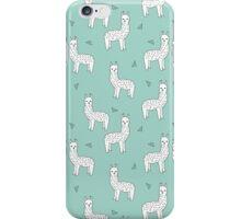 Alpaca - Mint by Andrea Lauren iPhone Case/Skin