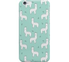 Alpaca - Mint by Andrea Lauren iPhone Case/Skin