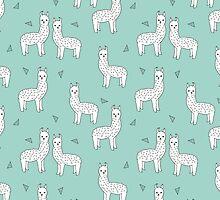 Alpaca - Mint by Andrea Lauren by Andrea Lauren