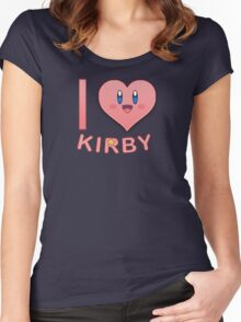 I Heart Kirby Women's Fitted Scoop T-Shirt