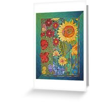 Garden Tryptich Greeting Card