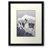 Nordic Reindeer Framed Print