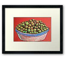 Peas Framed Print