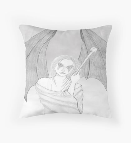 Protecting the Nakedness Throw Pillow