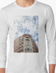 Curved Building Under Brilliant Skies Long Sleeve T-Shirt