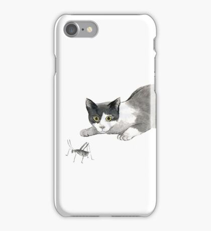Silly cricket sumi-e painting. iPhone Case/Skin