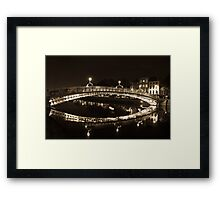 Dublin's Ha'penny Bridge Framed Print