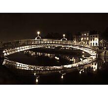 Dublin's Ha'penny Bridge Photographic Print