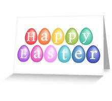 Happy Easter with colorful eggs Greeting Card