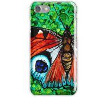 Inachis io (Peacock Moth) iPhone Case/Skin