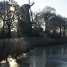 Windmill- 3 of 5: Hoar Frost Morning by MooseMan