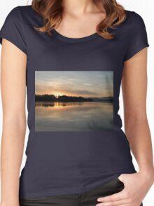 Golden Liquid Dawn ~ Johnstone River, Innisfail Women's Fitted Scoop T-Shirt