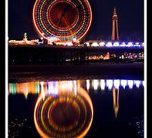 Blackpool at night by Shaun Whiteman