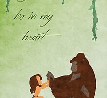 Tarzan inspired Mother's Day design. by topshelf