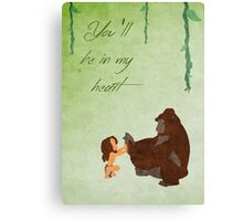 Tarzan inspired Mother's Day design. Canvas Print