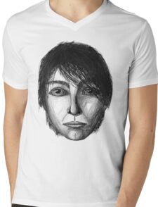 Face Mens V-Neck T-Shirt